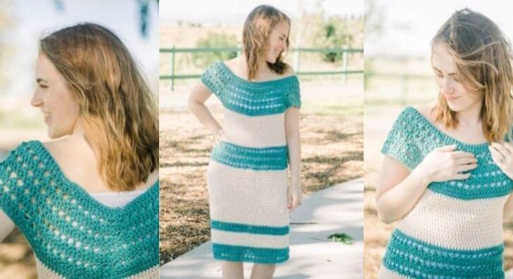 Vestido Fino de Crochê