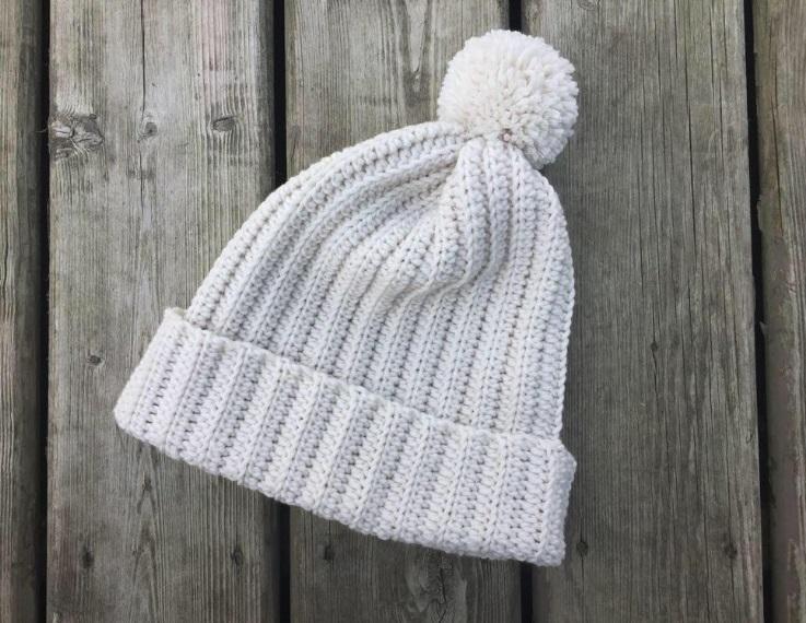Gorro de Crochê para Inverno Fácil