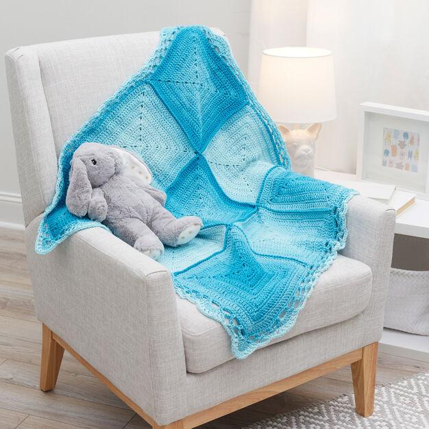 Manta de Crochê Azul para Bebê