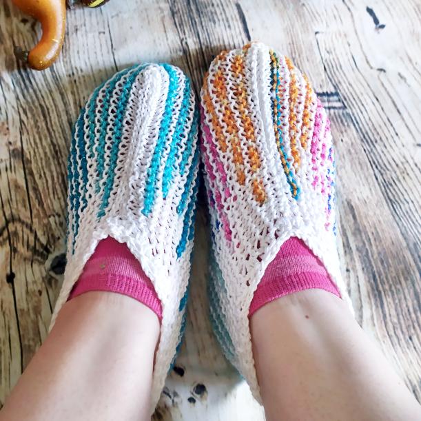 Sapato de Crochê Turco