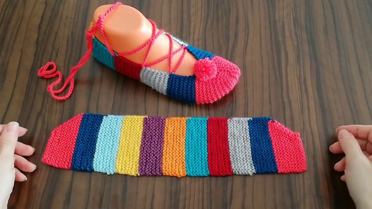 Sapato de Tricô Feminino Colorido