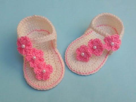 Sandália de Crochê Bebê para Verão