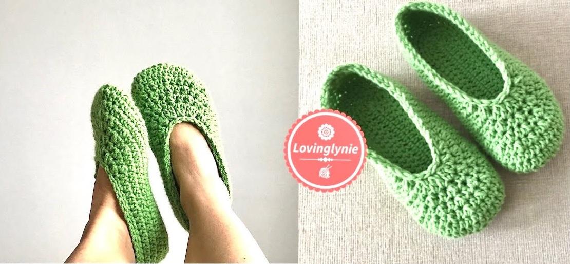 Chinelo de Crochê Verde Feminino