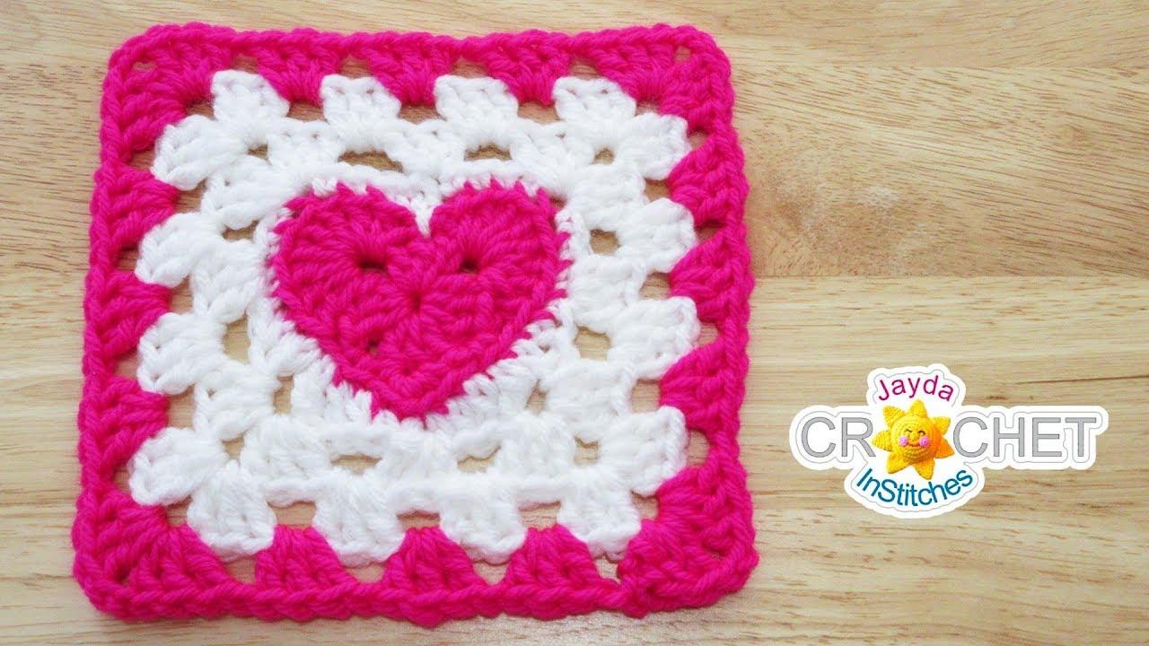 Square de Crochê com Coração