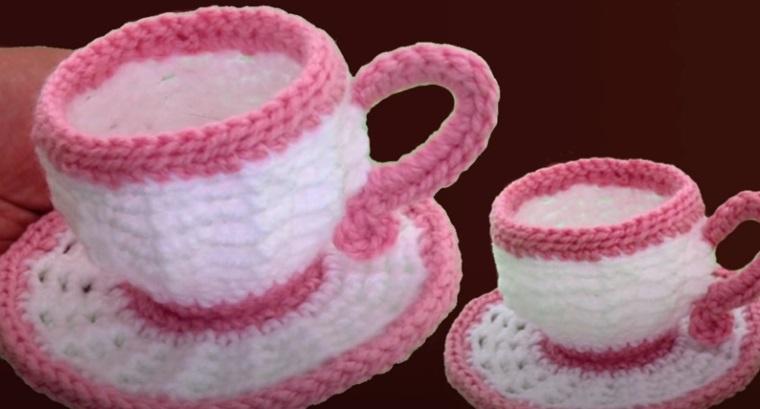 Xícara de Café em Crochê
