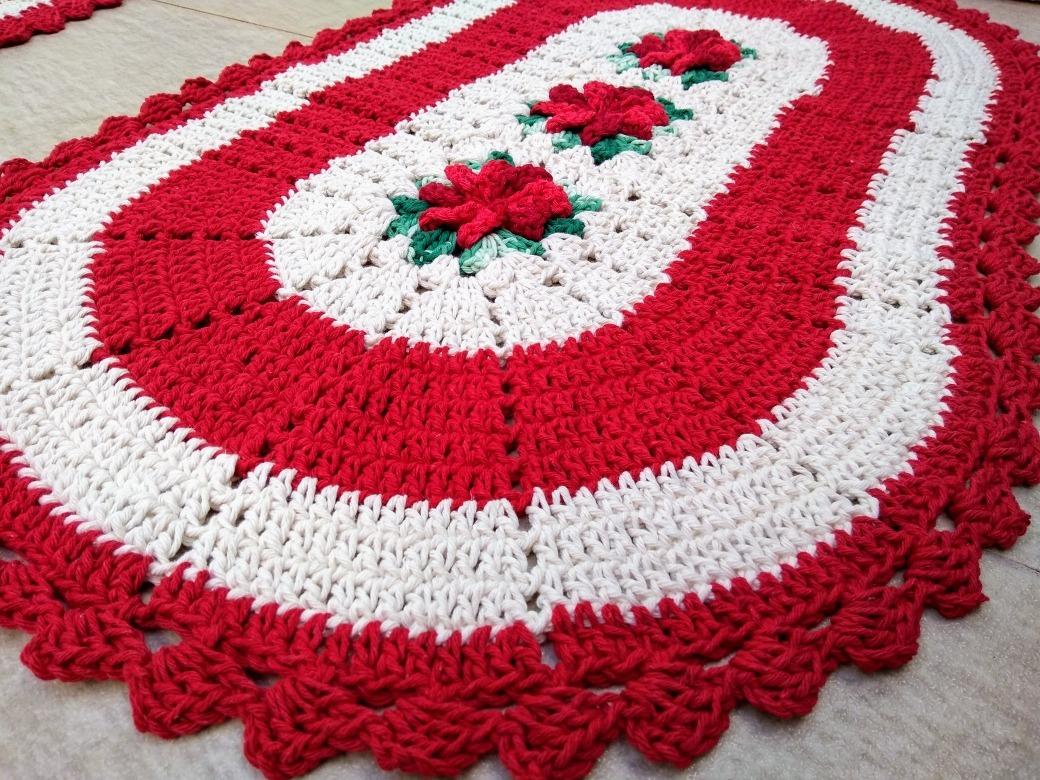 Tapete de Crochê com Flores: 5 Inspirações de Decoração + Passo a Passo