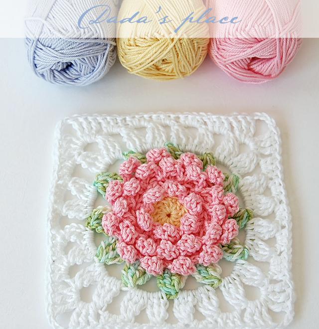 Square de Crochê com Flores Estilosas: 3 Inspirações + Vídeo Aula Passo a Passo