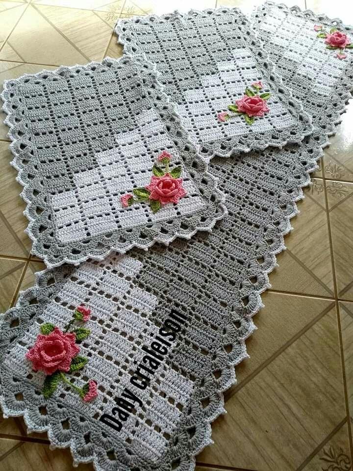 Tapete para Cozinha de Crochê Simples + Inspiração com Passo a Passo