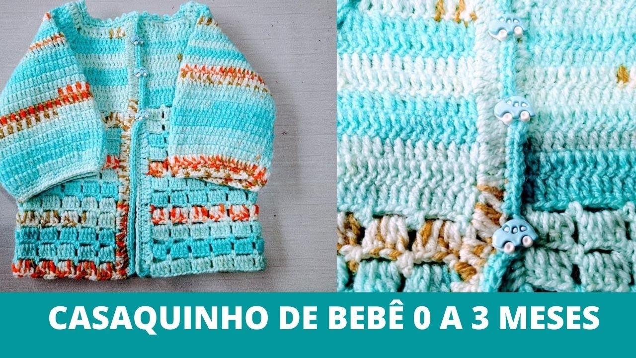 Kit Maternidade: Casaquinho de Crochê Para Bebê Simples