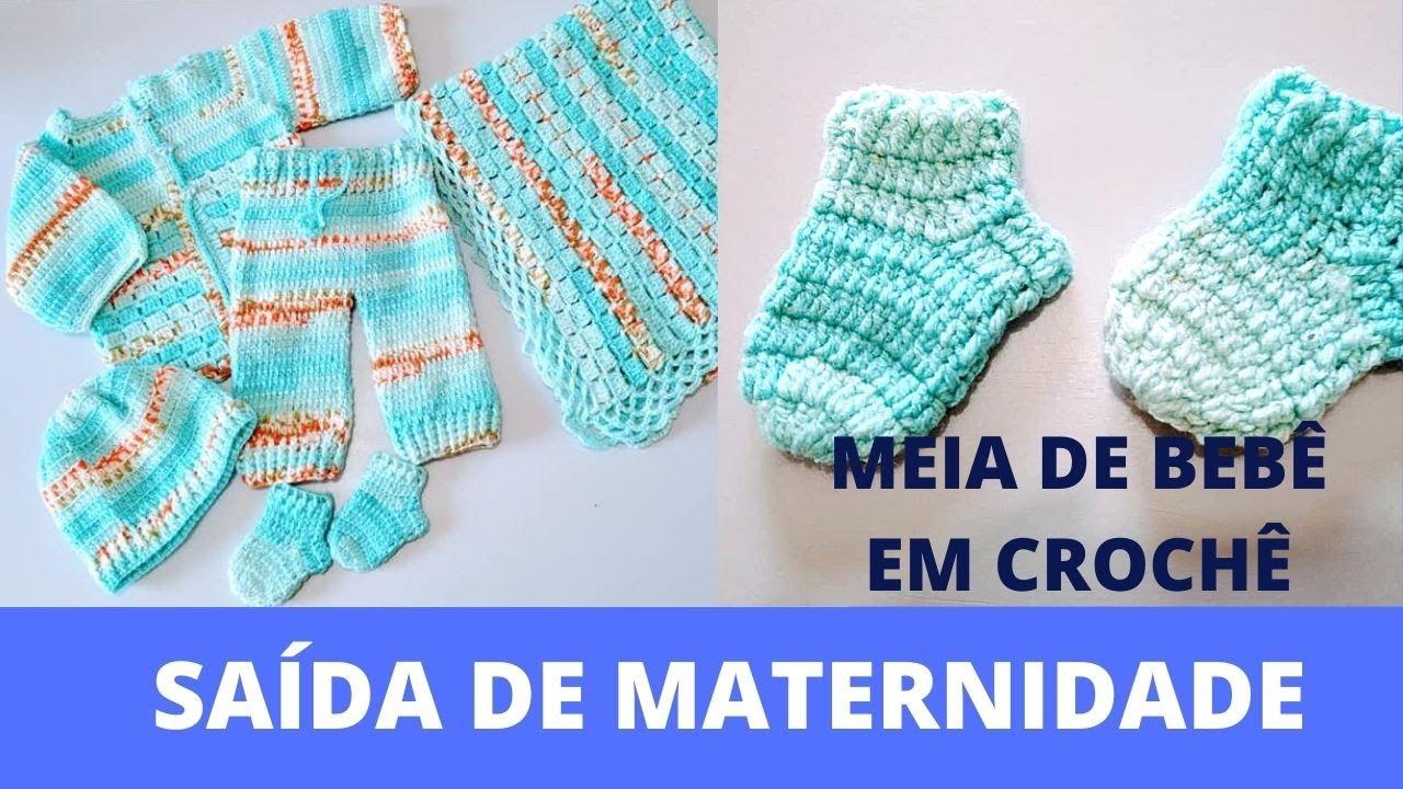 Kit Maternidade: Meia em Crochê para Bebê