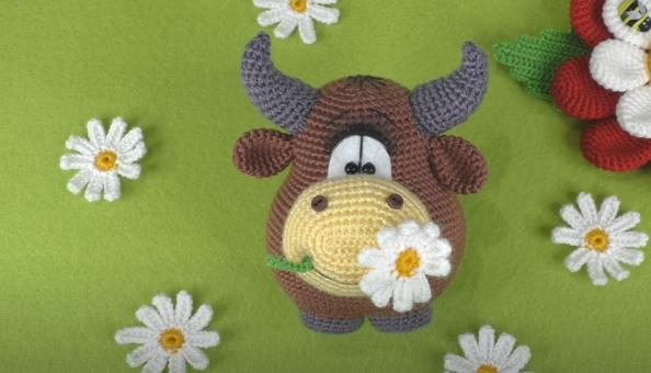 Vaquinha de Crochê Amigurumi