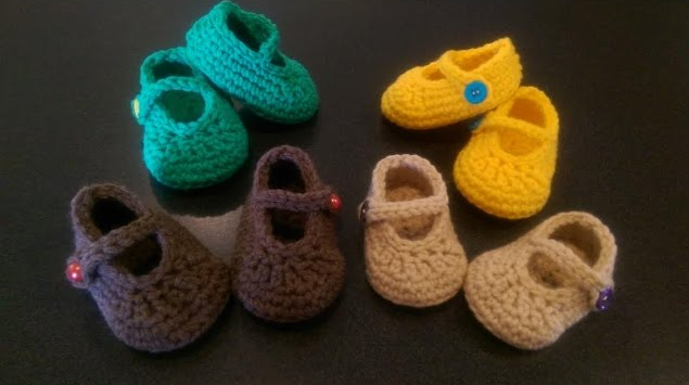 Botinha de Bebê em Crochê Coloridas Fácil