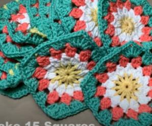 Conjunto de Squares com Flores