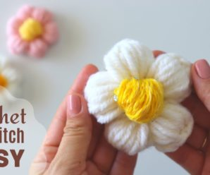 Flor de Crochê Margarida Esplêndida