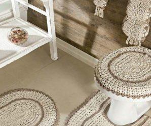 Jogo de Banheiro de Crochê Luxo [Inspiração + Passo a Passo]
